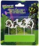 Teenage Mutant Ninja Turtles verjaardag figuur taart kaarsen
