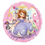 Sofia het Prinsesje foil ballon Happy Birthday