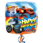 Blaze en de Monsterwielen Happy Birthday folie ballon