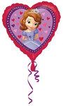Sofia het Prinsesje foil hart ballon