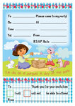 Dora Explorer uitnodigingen