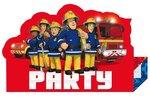 Brandweerman Sam uitnodiging kinderfeest