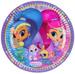 Shimmer and Shine party bordjes