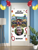 Gepersonaliseerde deurbanner Brandweerman Sam thema turks