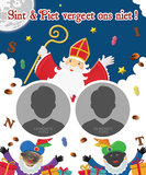 Sinterklaas poster SINT & PIET VERGEET ONS NIET_
