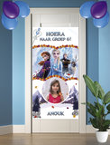 Gepersonaliseerde deurbanner Frozen 2 thema nieuwe klas voorbeeld