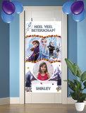 Gepersonaliseerde deurbanner Frozen 2 thema beterschap voorbeeld