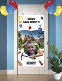 Gepersonaliseerde deurbanner Fortnite thema nieuwe klas voorbeeld