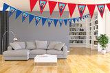 Gepersonaliseerde vlaggenlijn Super Mario thema voorbeeld kamer