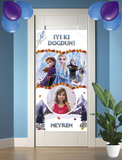 Gepersonaliseerde deurbanner Frozen 2 thema turks voorbeeld