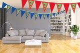 Gepersonaliseerde vlaggenlijn Yoshi thema voorbeeld kamer