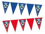 Gepersonaliseerde vlaggenlijn Thomas de Trein thema voorbeeld