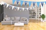 Gepersonaliseerde vlaggenlijn Disney Frozen thema kamer voorbeeld