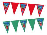 Gepersonaliseerde vlaggenlijn PJ Masks thema voorbeeld