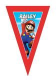 Gepersonaliseerde vlaggenlijn Super Mario thema design voorbeeld