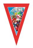 Gepersonaliseerde vlaggenlijn Mario kart thema Voorbeeld
