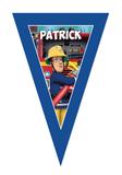 gepersonaliseerde vlaggen lijn brandweerman sam design voorbeeld