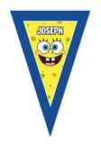 Gepersonaliseerde vlaggenlijn Spongebob thema design voorbeeld
