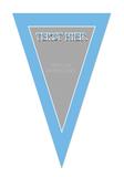 Gepersonaliseerde vlaggenlijn Disney Frozen thema template