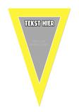 Gepersonaliseerde vlaggenlijn Spongebob thema template