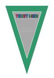 Gepersonaliseerde vlaggenlijn PJ Masks thema template