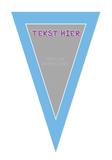 Gepersonaliseerde vlaggenlijn Speelgoed Dokter thema template