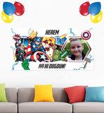 Gepersonaliseerde muurbanner The Avengers thema Voorbeeld turks
