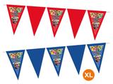Gepersonaliseerde vlaggenlijn XL Super Mario thema kleuren voorbeeld