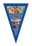 Gepersonaliseerde vlaggenlijn XL Super Mario thema voorbeeld