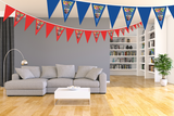 Gepersonaliseerde vlaggenlijn XL Super Mario thema kamer voor beeld