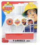 Brandweerman Sam verjaardagskaarsen verpakt