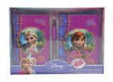 Disney Frozen notitieboek geschenkset met glitter pen verpakt
