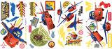 Disney Planes matter 44 delig wanddecoratie muurstickers set velindeling