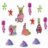 Spongebob foam wanddecoratie set