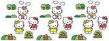Hello Kitty 24-delig foam deco set