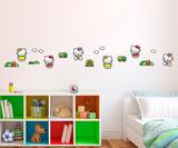 Hello Kitty 24-delig foam deco set voorbeeld