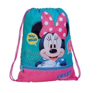 Minnie Mouse gymtas met extra voorvak