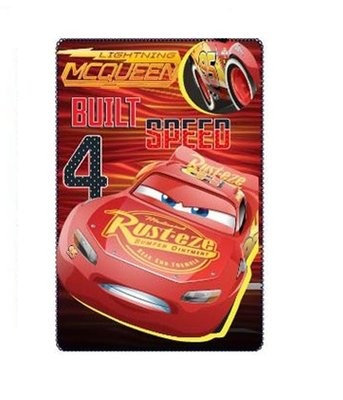 Disney Cars fleece deken Mc Queen