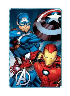The Avengers fleece deken met Captain America en Iron man