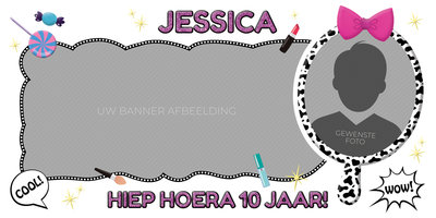 Gepersonaliseerde muurbanner LOL Surprise thema