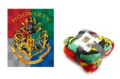 Harry Potter fleece deken Hogwarts