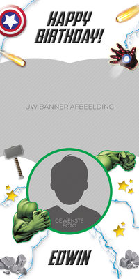 Gepersonaliseerde deurbanner The Avengers thema