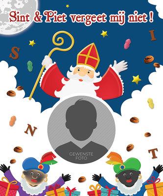 Sinterklaas poster SINT & PIET VERGEET MIJ NIET