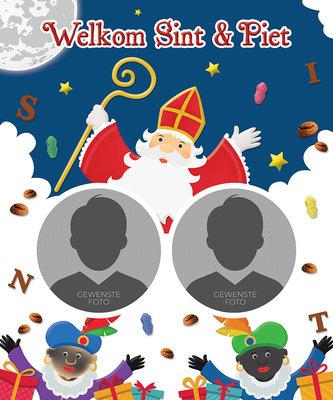 Sinterklaas poster WELKOM SINT & PIET