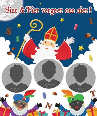 Sinterklaas poster SINT & PIET VERGEET ONS NIET