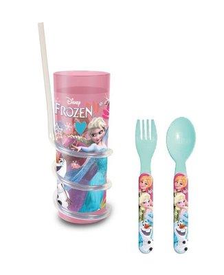 Disney Frozen drinkbeker + bestek OP=OP!