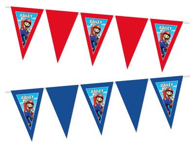 Gepersonaliseerde vlaggenlijn Super Mario thema