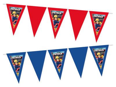 Gepersonaliseerde vlaggenlijn Brandweerman Sam thema