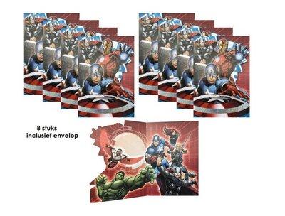 The Avengers uitnodigingen - kaarten met envelop