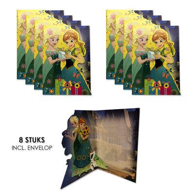 Disney Frozen uitnodigingen - kaarten verjaardag